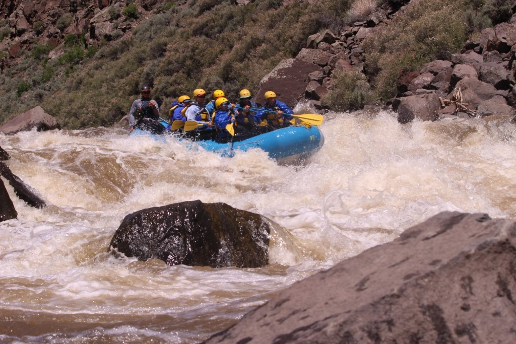 Powerline Rapid on the Taos Box
