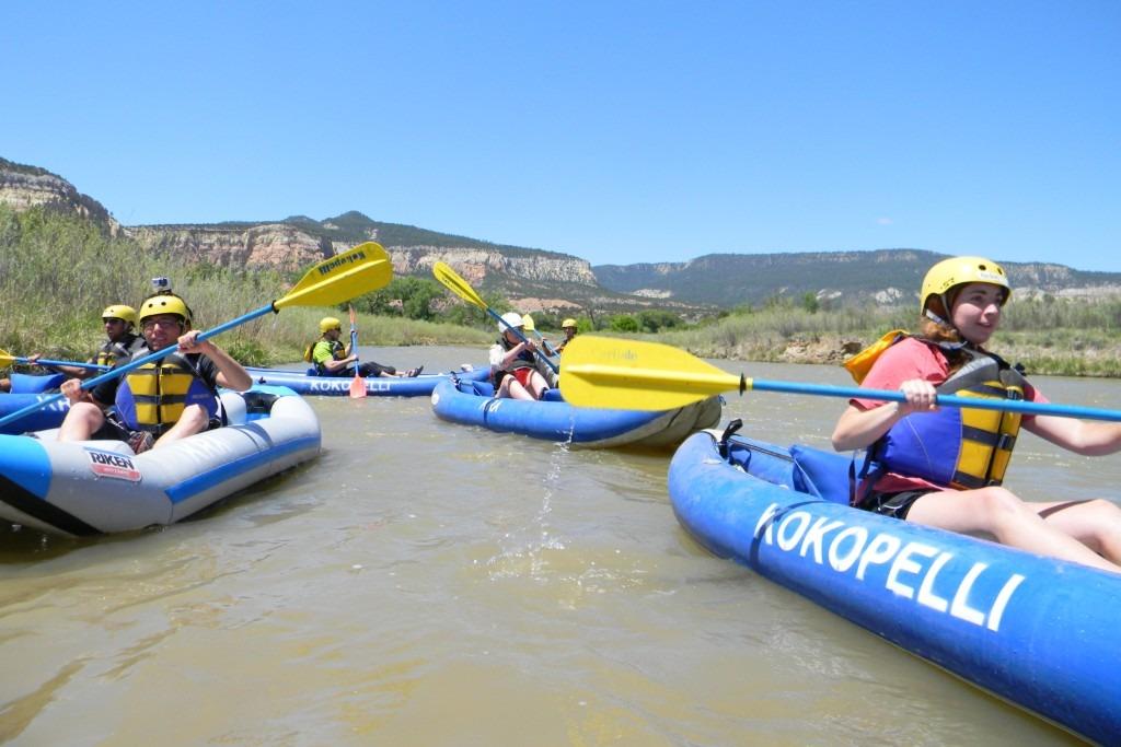 Inflatable Kayaks on the Rio Chama